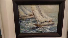 """Original Oil Painting 20"""" x 14"""" one of a pair"""
