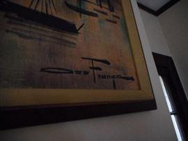 Signed Print Ozz France. Skyline