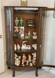 STUNNING Antique Ebert's China Cabinet with rounded Glass