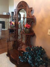 Ornate Hall Tree Mirror