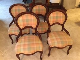 Victorian Balloon Chairs - set of 4