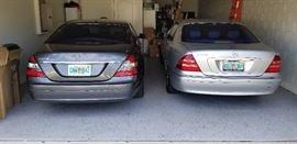 2000 Mercedes and a 2008 Mercedes