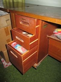 DRAWERS IN SEWING CABINET