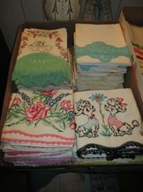 VINTAGE LINENS (EMBROIDERED PILLOWCASES)