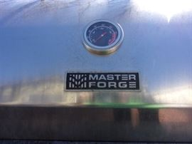Master Forge Grill on steroids! Stainless steel to boot! Master Forge 6-Burner (73,000-BTU) Natural Gas or Liquid Propane Gas Grill with Two Side Burners - FYI $3200 new at lowes