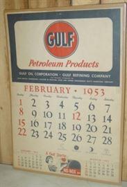 1953 Gulf Oil Calendar