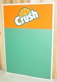 Metal Orange Crush Soda Menu Board Sign
