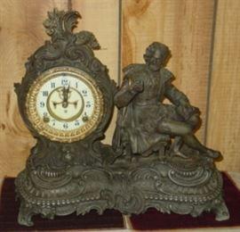 Ansonia Metal Figural Clock