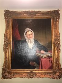 """27"""" x 34""""  Oil on Canvas unsigned Portrait of a Woman C. 1810"""