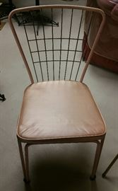FOUR Pink Vintage Daystrom Kitchen Chairs