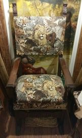 Tarzan Chair with matching Footrest