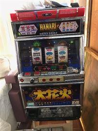 Hanabi Slot Machine with Tokens - Works Great!
