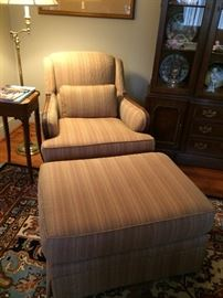 chair with matching ottoman