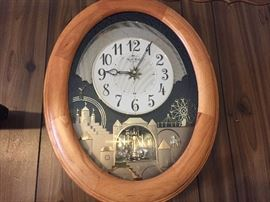 Musical wall clock.