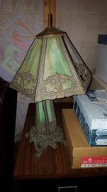 antique Slag lamp needs repair $95