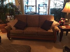 Sofa, with same upholstery as love seat, pillows included.   Excellent condition