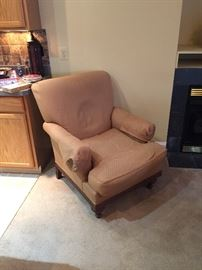 Very comfortable upholstered arm chair, originally from Domaine Furniture, excellent condition and rarely used.