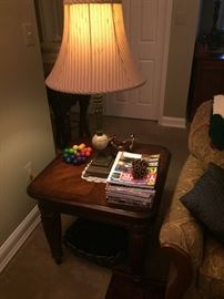 Matching side table and lamp