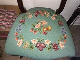 beautiful embroidered bottom chairs of chairs for sale