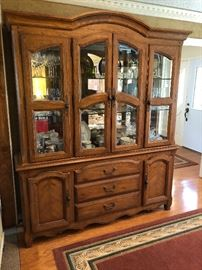 Bernhardt lighted china cabinet