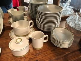 Stoneware pottery, not a full set