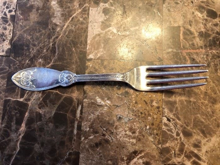 Duhme & Co Coin Silver (?) Fork Set