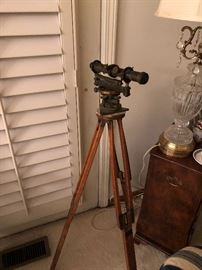 Antique Surveyor's Scope on Tripod