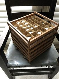 Antique Wooden Egg Crate Holder
