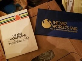 1982 World's Fair Stamps and Token Sets