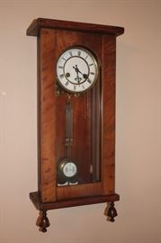 Decorative Wood Cased Wall Clock