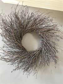 Very unique twig wreath.