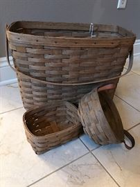 Longaberger baskets in various sizes.
