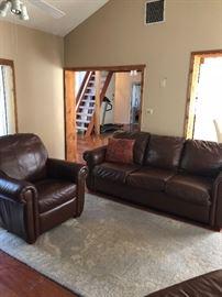 Leather Maroon Sofa