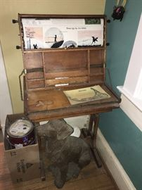 Antique drawing table