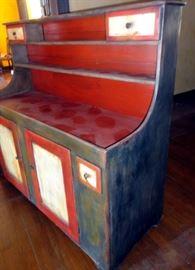 c 1840 dry sink..  Modern paint job