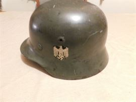 "M35 Army Single Decal Removed National Decal ""NS64"" 1937 Liner- Early Clip Chin Strap Broken"