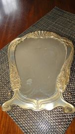 Friedrich Adler Art Nouveau Jugendstil Pewter Mirror, Germany c.1901, Osiris