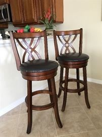 Pair Swivel Bar Stools