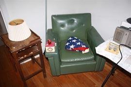 Naugahyde chair