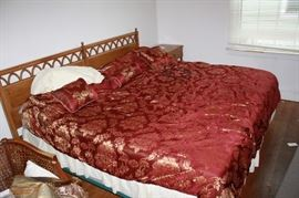 King size vintage bed with mattress