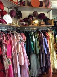 Selection of Pink and Green Vintage Dresses