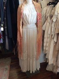 Victorian/Edwardian Lawn White Gown