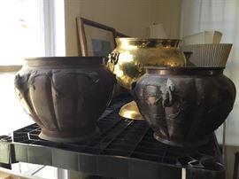 Oriental Bronze & Brass planters