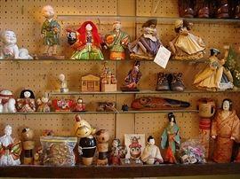 Assortment of Japanese Figurines