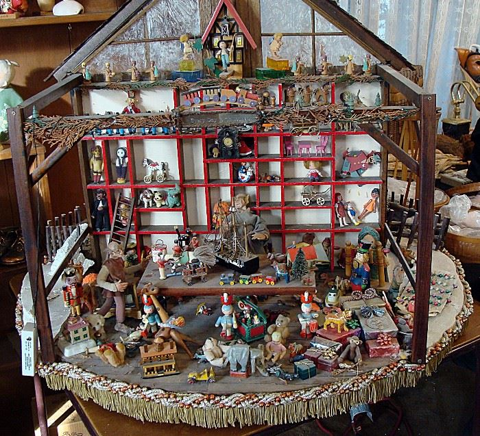 "Huge miniature ""Toy Shop"" table top display"