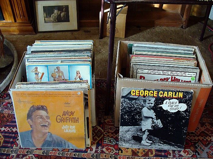 part of a large assortment of vintage LP records