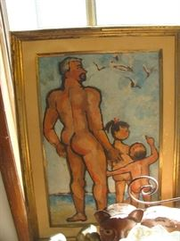 another mid century painting , signed