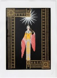 "#2219 - ERTE (FRENCH, 1892-1990), COLOR SILKSCREEN, 1984, IMAGE: H 21 1/2"", W 15 3/4"", ""PRINCESS LOINTAINE"""