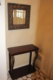 Framed Mirror and Console Table