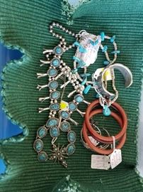Squash Blossom Necklace and other Turquoise Necklaces